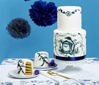 Tinta Cinta pada Kue Pengantin