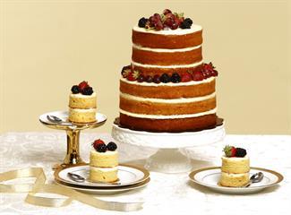 Adaptasi Tren Naked Cake pada Kue Pengantin