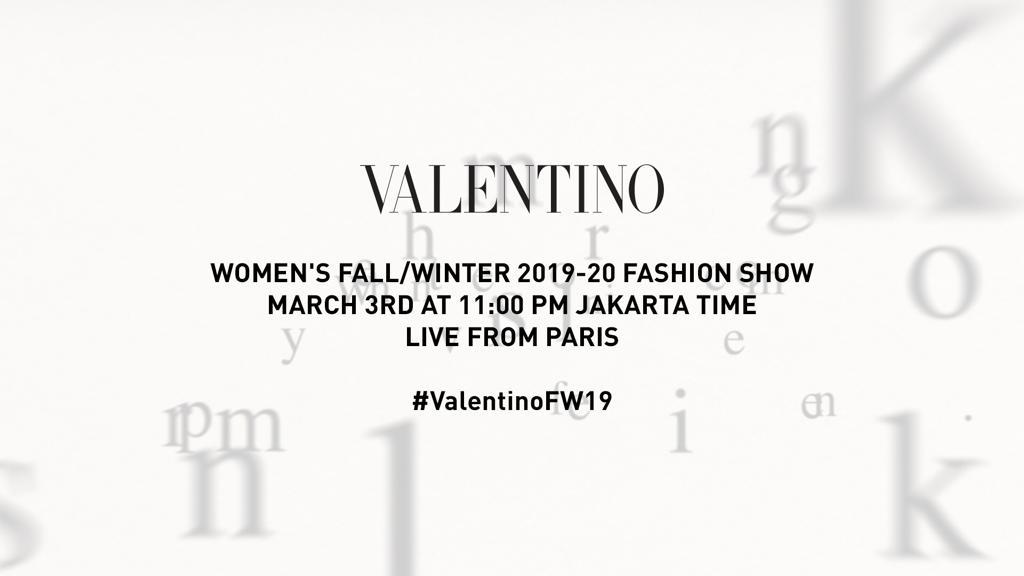 Live Stream Valentino Women's FALL/WINTER 2019/2020