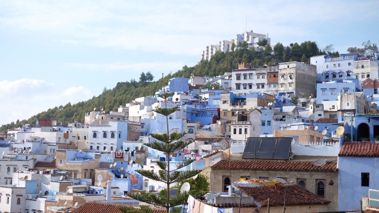 Sekelumit Kisah Kecantikan Kota Biru Chefchaouen di Maroko