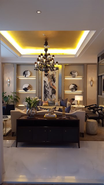 Interior dengan Sentuhan Modern Klasik oleh The Residence dari ST.Regis