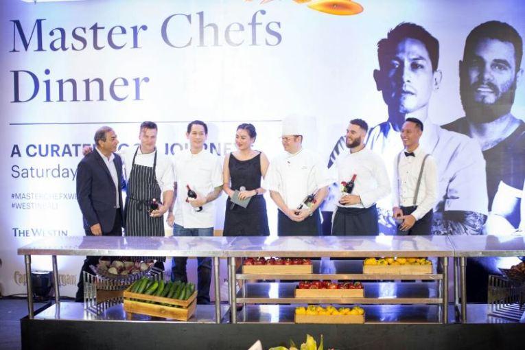 Simak Kolaborasi 4 Master Chef dalam Meramu  Menu Hidangan di Westin Resort Bali