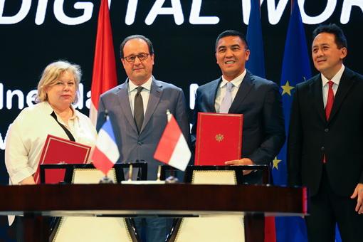 Pembahasan Ekonomi Kreatif dan Promosi Industri Kebudayaan di Era Digital di Pertemuan Bilateral Indonesia-Prancis
