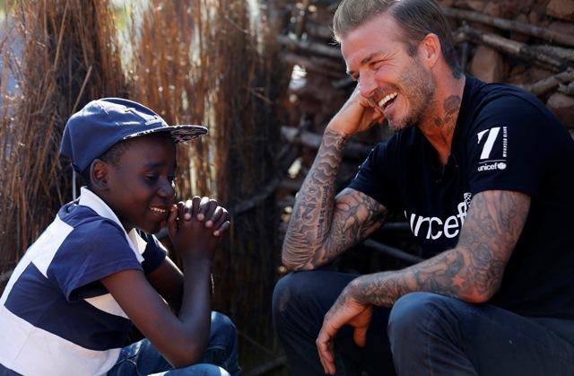 David Beckham dan UNICEF Menyampaikan Pesan Anti Kekerasan Pada Anak Melalui Tato Animasi