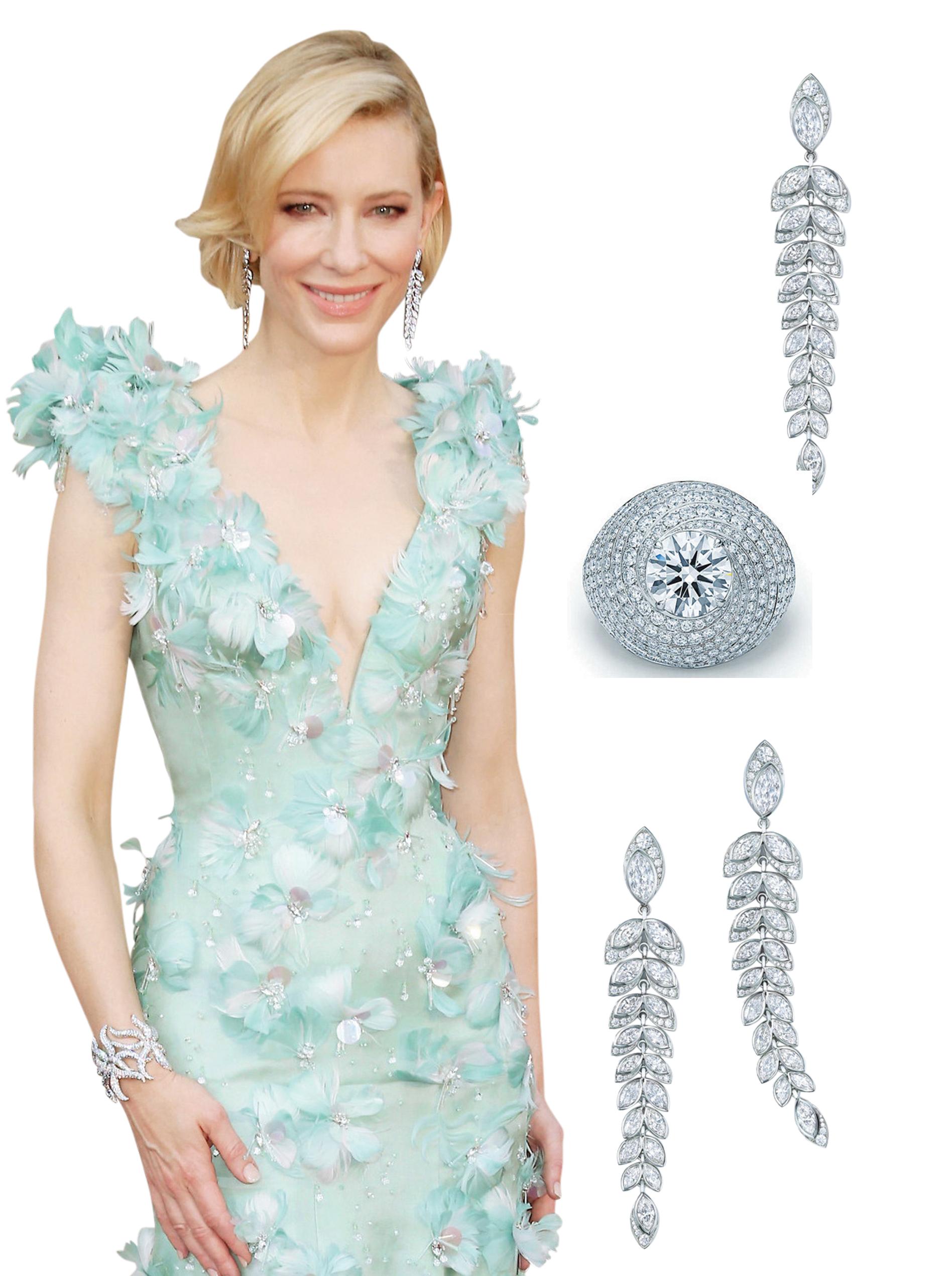 Binar Biru Tiffany & Co Menghiasi Penampilan Cate Blanchett di Academy Awards 2016