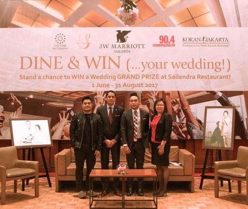 Ikuti Sayembara Akbar Hotel JW Marriot Dengan Hadiah Utama Pernikahan Gratis di Sailendra Restaurant