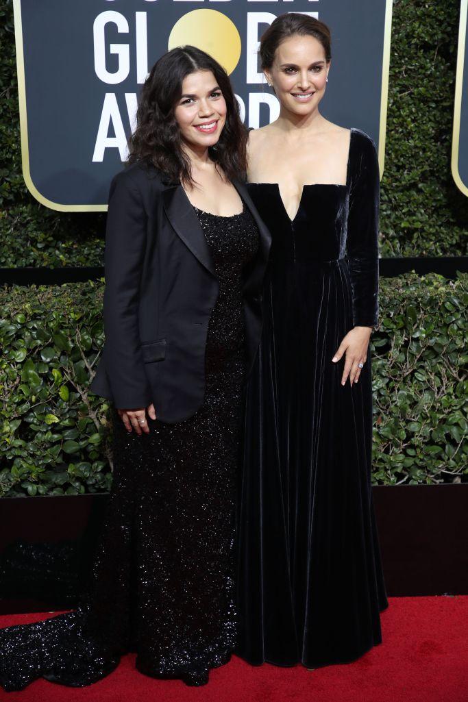 Tampilan Serba Hitam di Karpet Merah Golden Globes 2018